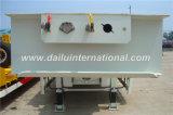 3-assen Witte Verwijde Semi Aanhangwagen Lowbed met de Ladder van de Lente