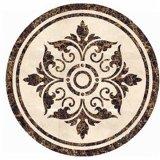Salones de mármol de piedra y medallón Waterjet de las entradas