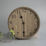 Reloj de pared de madera del OEM para la decoración casera