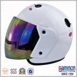 Casco abierto azul marino de la motocicleta de la cara (OP212)