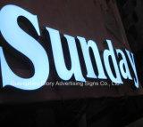 Frente al aire libre Lit letras de canal y LED muestra de la exhibición