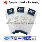 Plastikkleid-Paket-Aluminiumfolie-Beutel-flacher Beutel mit Reißverschluss