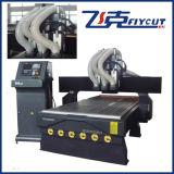 Multi máquina de gravura de madeira do CNC da tabela do vácuo das cabeças