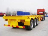 80ton 3 Axles Flatbed Truck Container Semi Trailer