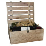 Embleem van de douane drukte de Onvolledige Houten Verpakking van de Wijn af