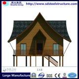 Casa de campo pré-fabricada do uso material de aço claro do Casa de campo-Casa-Escritório do calibre