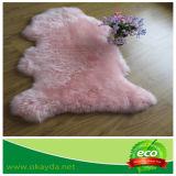 Coperta australiana della pelliccia della pelle delle pecore con i colori tinti per la decorazione domestica