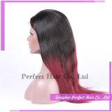Parrucche anteriori piene basse di seta rosse del merletto dei capelli umani