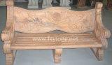 手によって切り分けられるピンクの大理石の庭のベンチ(MBC-001)