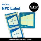 Collant de papier auto-adhésif Ntag213 de Nfc 13.56MHz