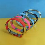 Sale caldo Plain Silicone Bracelet con Metal Clip