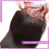 Fermetures de mélange de fermeture libre de base en soie de pièce de cheveu de Vierge