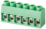 RoHS UL VDE公認の電気プラグイン可能なPCBの端子ブロック(WJ167R)
