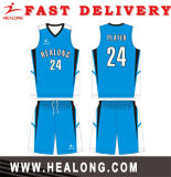Hot Sell Full sublimation Sky Blue New Style Basketball Jersey