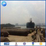 Saco hinchable de elevación de goma marina inflable de alto rendimiento para el aterrizaje de la nave