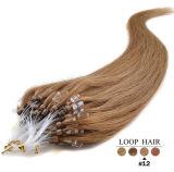 Remy indischer Haar-Extensions-Regelkreis-Mikroring-Haar-Schwarzes 100% Brown blond