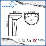 lavabo de zócalo de cerámica del cuarto de baño 20 '' - 22 '' en el blanco (ACB0014)