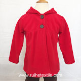 Вскользь Microfleece Red Coat, Jacket с Hood для Children