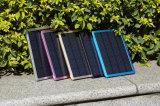 Batería portable solar grande de la potencia de la pared 10000mAh del cargador para el negro del teléfono