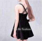 Vestiti da partito sexy neri Sleeveless delle donne dell'incrocio di modo