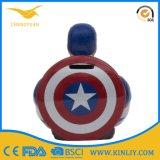 Rectángulo de cerámica personalizado del ahorro del dinero de la boda de la batería de moneda de la batería guarra