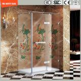 3-19mm Silkscreen-Druck/saure Ätzung/bereiftes/Muster-Sicherheits-Hartglas für Haus, Hotel-Badezimmer/Dusche/Dusche-Gehäuse mit SGCC/Ce&CCC&ISO Bescheinigung