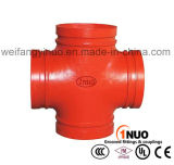 Constructeur professionnel de la Chine de la réduction cannelée malléable de fer de moulage/d'homologation égale de la croix UL/FM