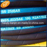 R2/2sn二線式の編みこみのゴム製高圧油圧ゴム製オイルのホース