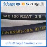 Boyau en caoutchouc hydraulique d'enroulement de boyau DIN En856 6sp