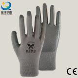 нитрил раковины полиэфира нитрила 13G серый покрыл перчатки работы безопасности (N6088)