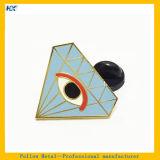 Insignia grande del ojo del Pin de la solapa dura del esmalte