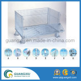 Envase plegable del rectángulo del acoplamiento de alambre para el almacenaje