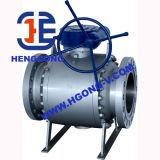 Vávula de bola eléctrica montada muñón de acero de molde del borde de API/ANSI/DIN