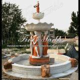 大理石の石造りの花こう岩の庭の多色刷りの噴水Mf1008
