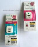 Paquetes del cargador del USB con la tarjeta de papel