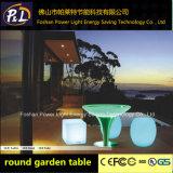 Tableau allumé par DEL de moulage de rotation de matériau de PE de meubles de jardin