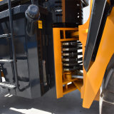 El registro de la maquinaria de la silvicultura ataca a cargador de la rueda 1ton-5ton con los neumáticos grandes