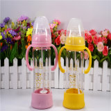 Bottom Setの270ml Crystal Diamond Baby Glass Bottle