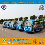 세륨 증명서 & SGS를 가진 14명의 전송자 배터리 전원을 사용하는 고전적인 셔틀 전기 여행자 관광 차