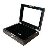 Коробка подарка индикации хранения Jewellery кольца высокой отделки лоска деревянная