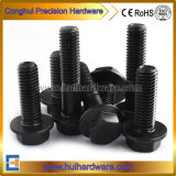 Schwarze Kohlenstoffstahl-Hex Flansch-Kopf-Schraube