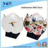 reloj de la sublimación del MDF de 200*150 milímetro con el soporte