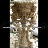 De antieke Planter van de Travertijn voor Decoratie mp-260 van het Huis