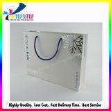Blanca Coated Paper cosmética Bolsa de regalo