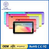 Luz de flash opcional para câmera traseira Rockchip 3126 Quad Core 512MB 4GB de memória M744 Tablet PC 7 polegadas WiFi