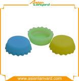 Anunciou o tampão de frasco colorido do silicone da conveniência