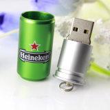 Mecanismo impulsor de la pluma de la tarjeta de destello del USB del mecanismo impulsor del flash del pulgar del USB del palillo de la tarjeta de la memoria de disco de destello del USB de las latas de la botella de la insignia del OEM del palillo del USB del mecanismo impulsor del flash del USB