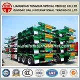 Ctsm 3-Axles 40FT contenedor verde esqueleto semirremolque en la promoción