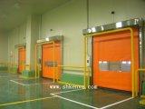 Portes temporaires rapides à réparation automatique d'obturateur de rouleau de tissu de PVC pour des industries pharmaceutiques