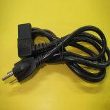 Cuerda de extensión de la potencia de la UL con IEC anguloso C13